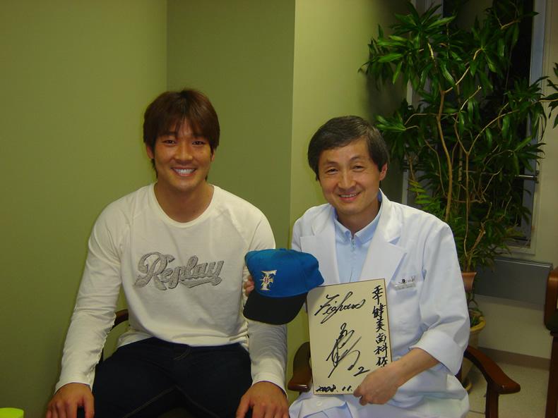 院長とプロ野球選手